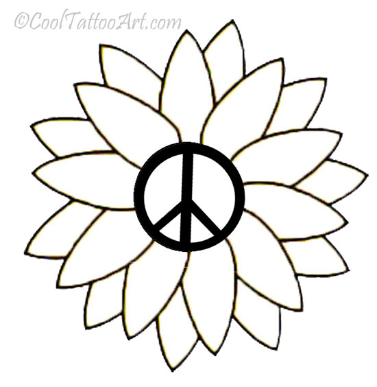 cool peace sign coloring pages-#31
