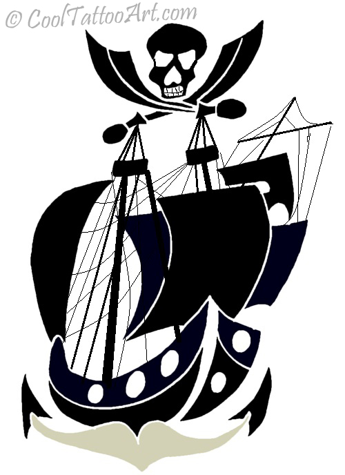 Free Pirate Ship Tattoos Art Designs CoolTattooArts