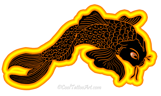 Koi tattoos art designs cooltattooarts for Koi fish meaning