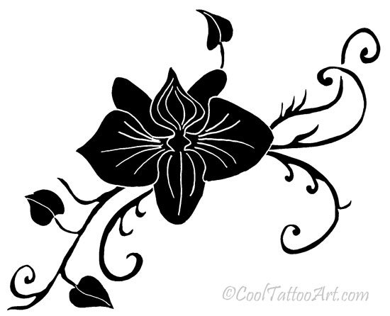 Orchid Tattoos Art Designs Cooltattooarts